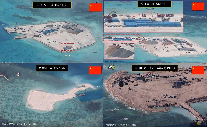 pm|中国南海填土造岛与