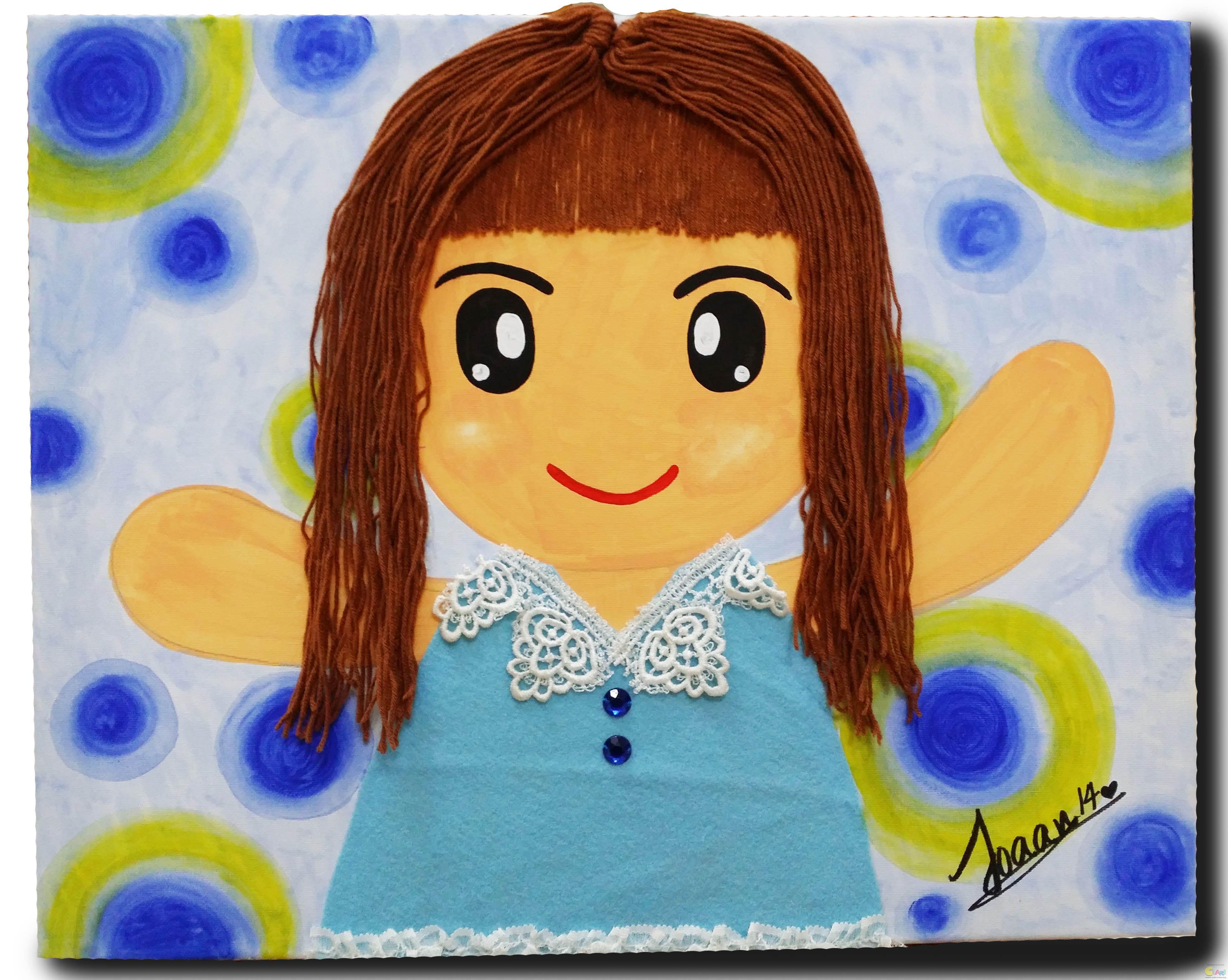 儿童自画像作品_儿童网