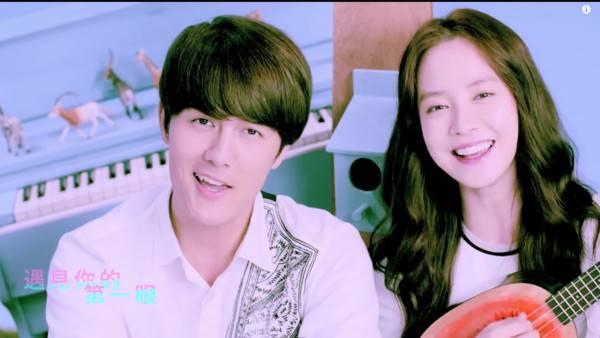 宋智孝合作的话题单曲《你好可爱》