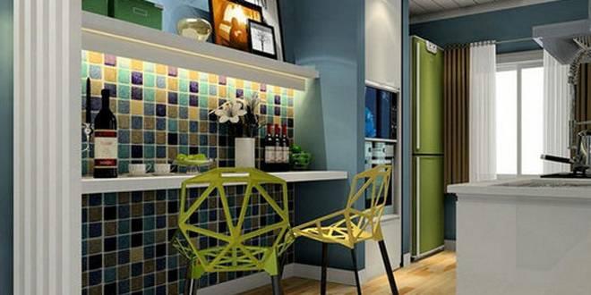 马赛克餐厅效果图 背景墙也需要装饰 家居生活 家庭生活