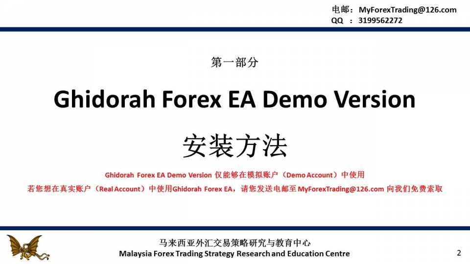 Ghidorah Forex EA——月盈利率13%的全自动外汇交易系统 ...