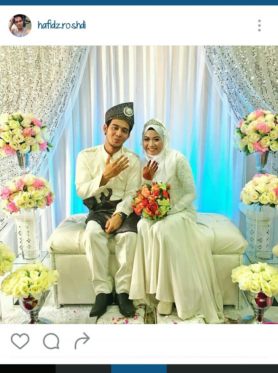 Hafiz Roshdi @ tundukkan playboy itu kahwin dah.  TAHNIAH