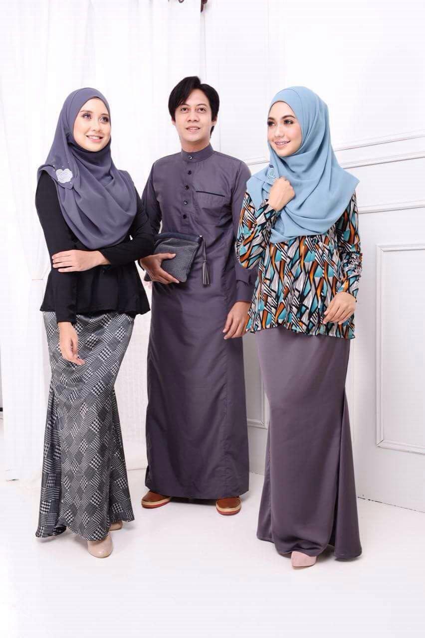 Pakaian muslimah couple 20 desain baju muslim keluarga Baju gamis terbaru jodha akbar