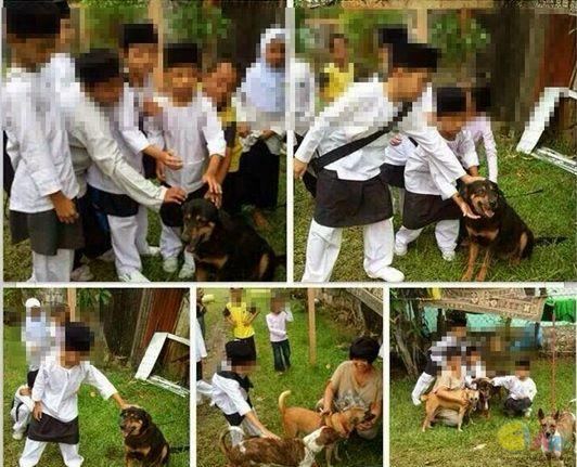 Siasat Murid Sekolah Agama Belai Anjing