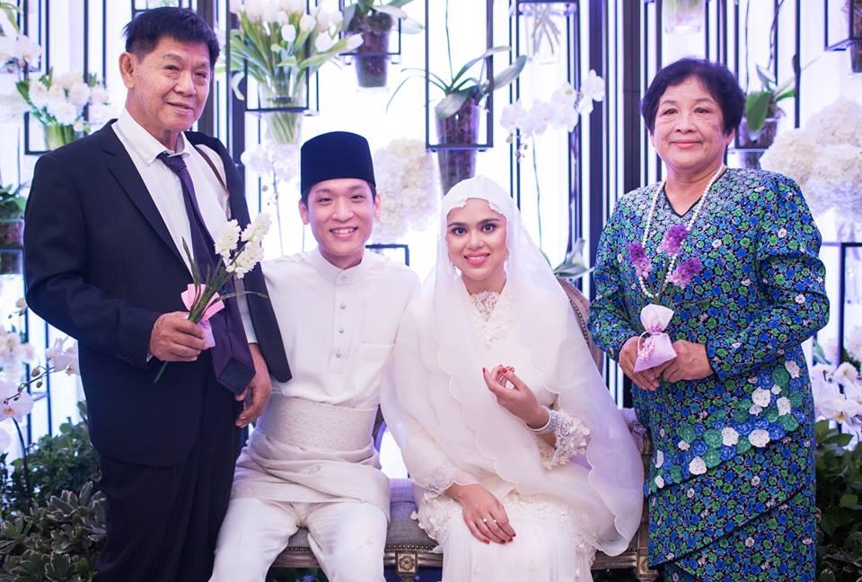 Di sepanjang majlis pernikahan Najwa Muhyiddin