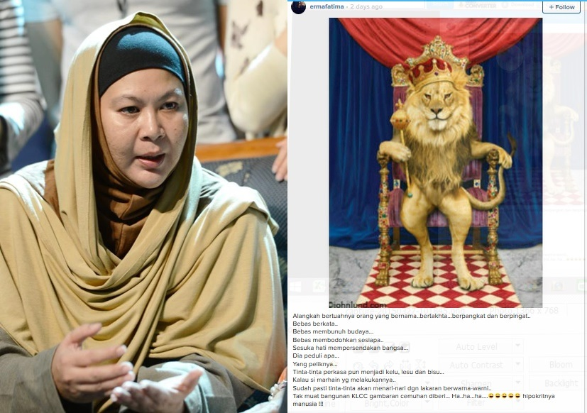Erma Fatima Hina Sultan Johor?