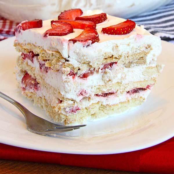 [NO BAKING] Kek Strawberri Krim