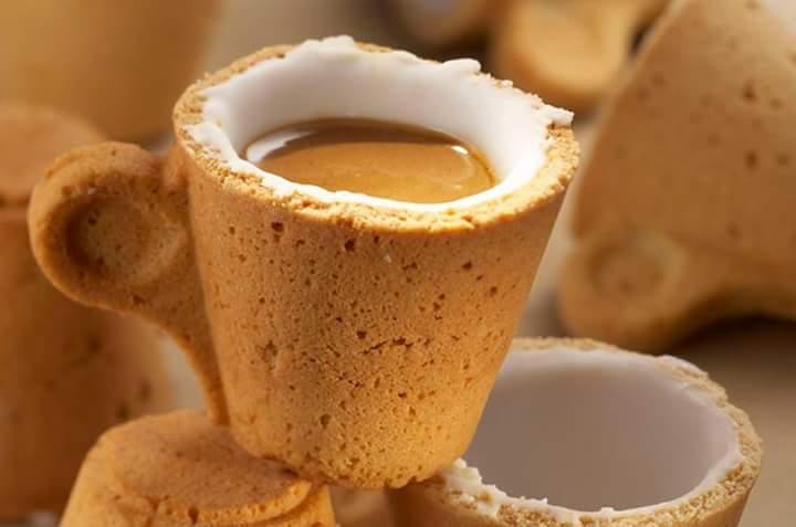 Unik! Cawan Yang Boleh Dimakan Selepas Minum 'Coffee'
