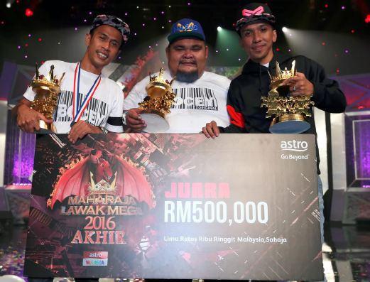 Bocey Juara Maharaja Lawak Mega (MLM) 2016, Raih RM500,000