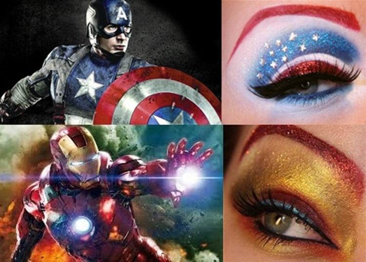 Mekap Mata Ala Watak Filem 'The Avengers'