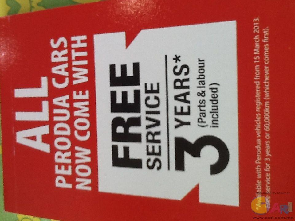Myvi Free Service