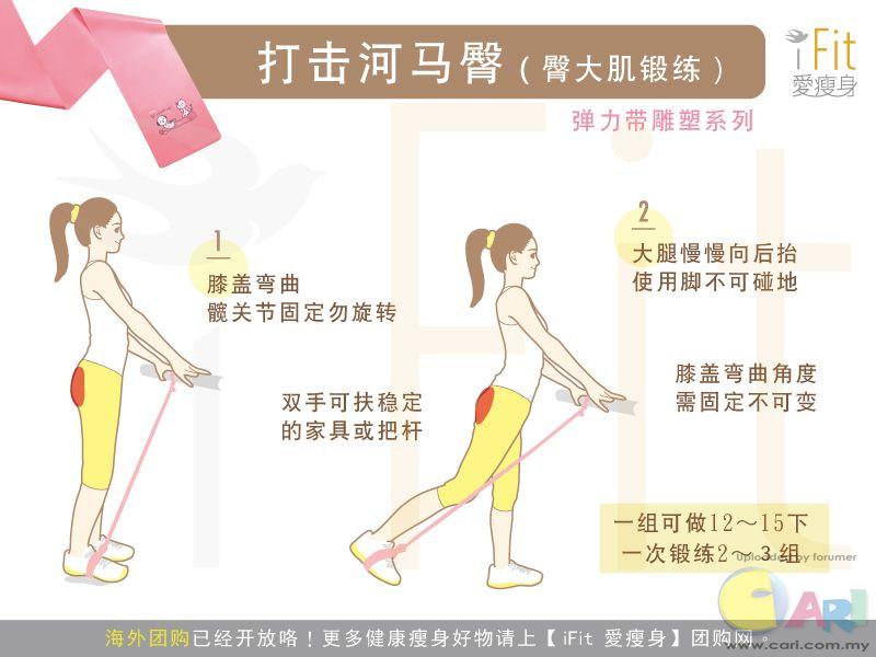 弹力带雕塑系列:打击河马臀(臀大肌锻练)