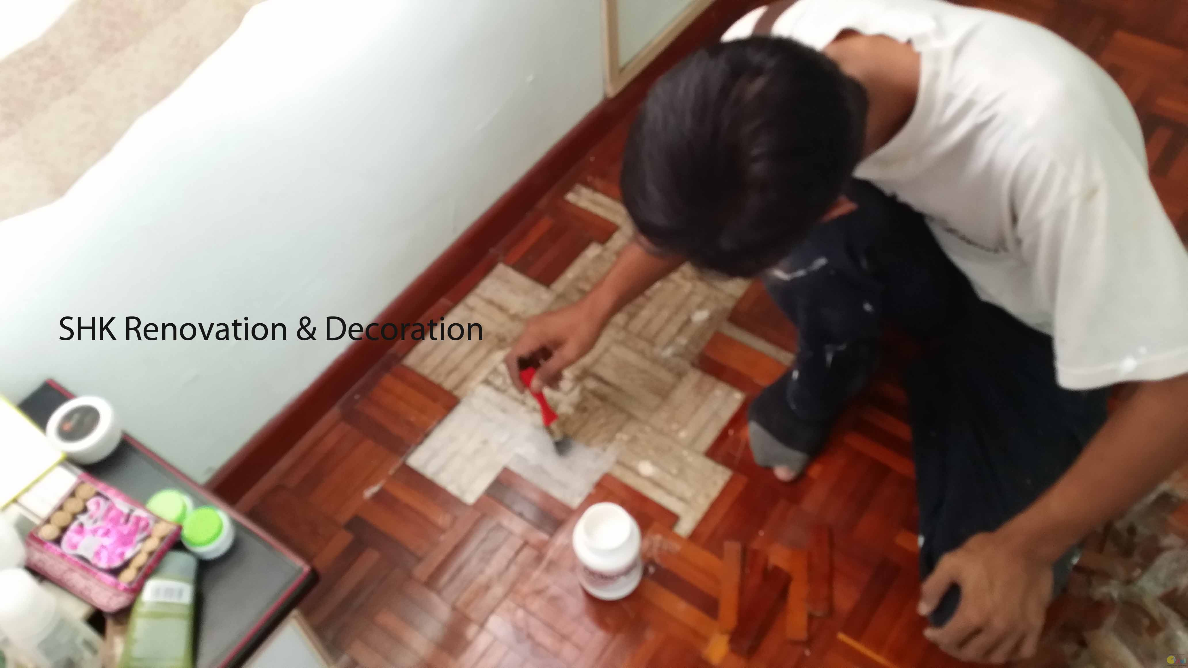 Replace parquet tile