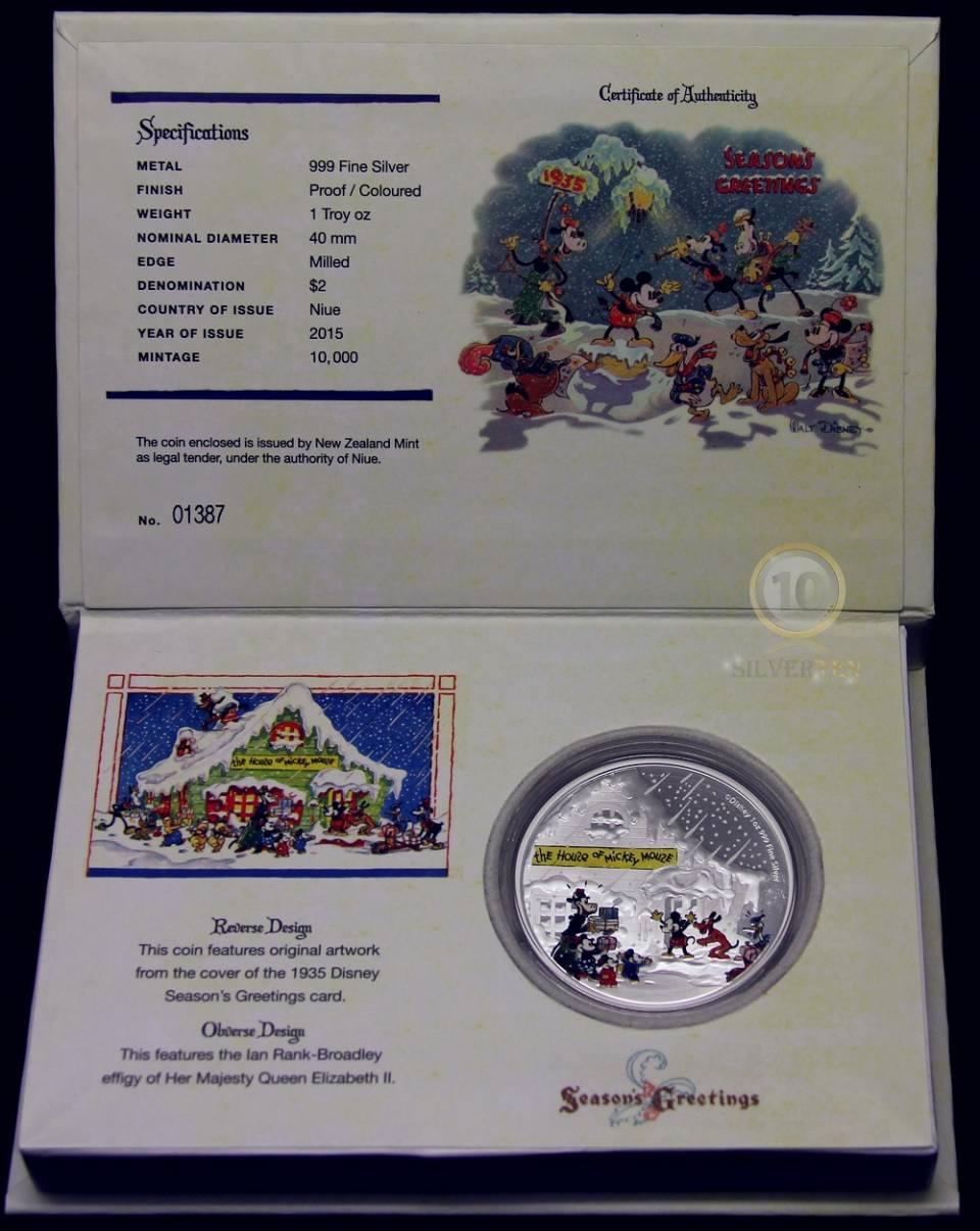 Disney Silver Coin - Season's Greetings Classic.JPG