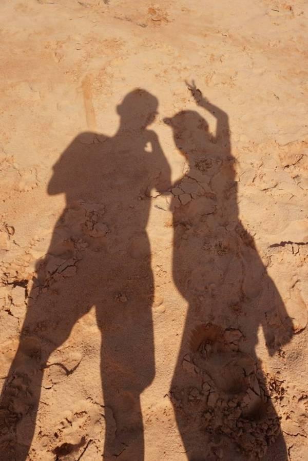 2nd day,在仙女溪的沙上自拍