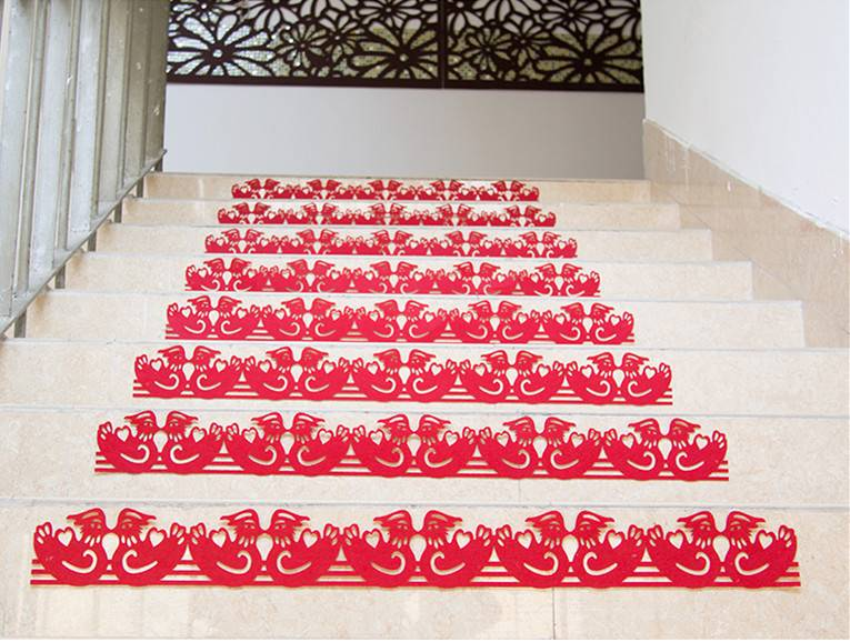 鸳鸯楼梯贴