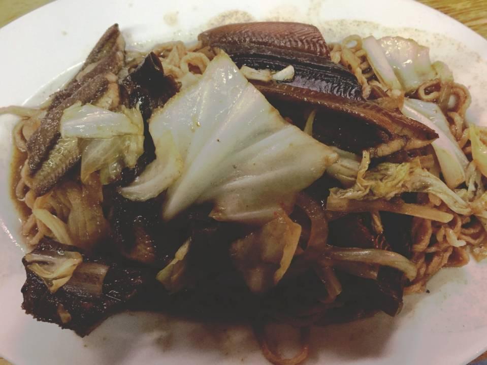 晚餐,鳝鱼意面干
