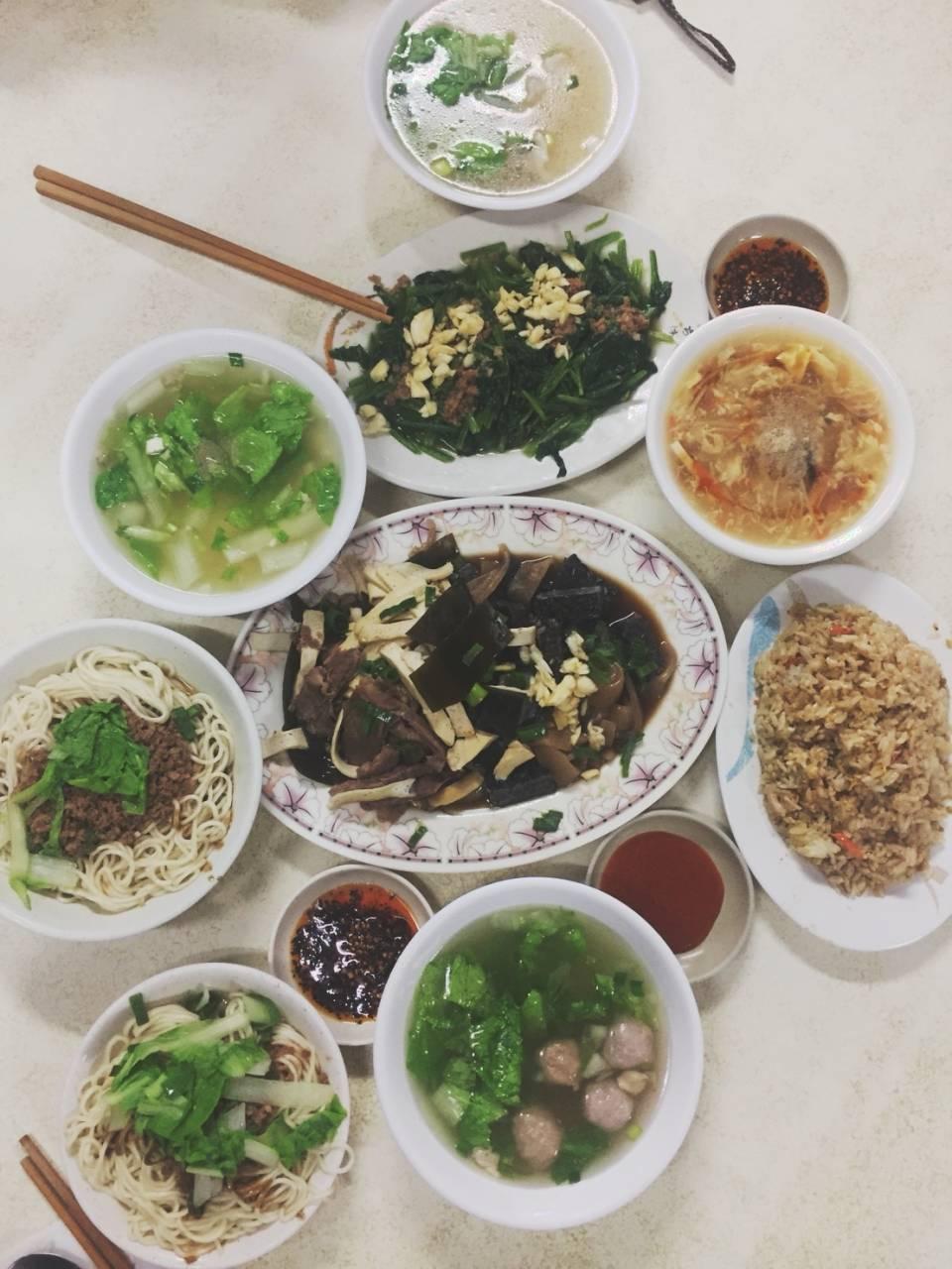 丰盛的台南午餐