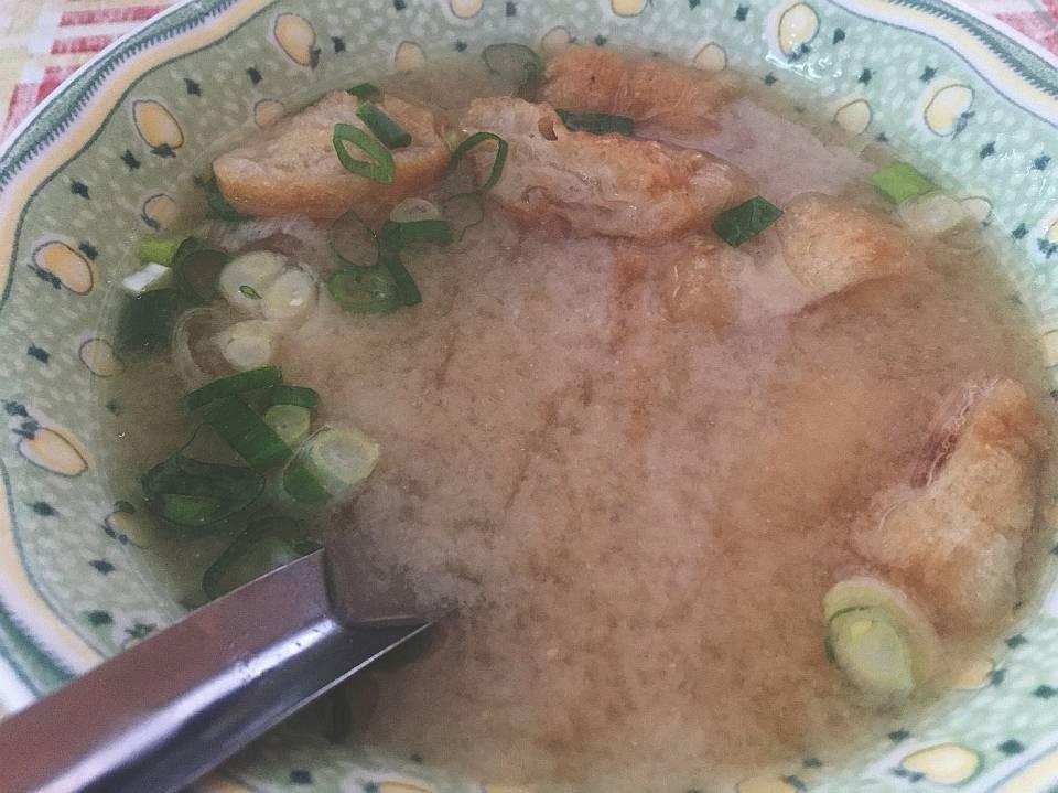 味增汤,搭配粽子吃的