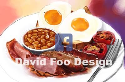美式早餐插画
