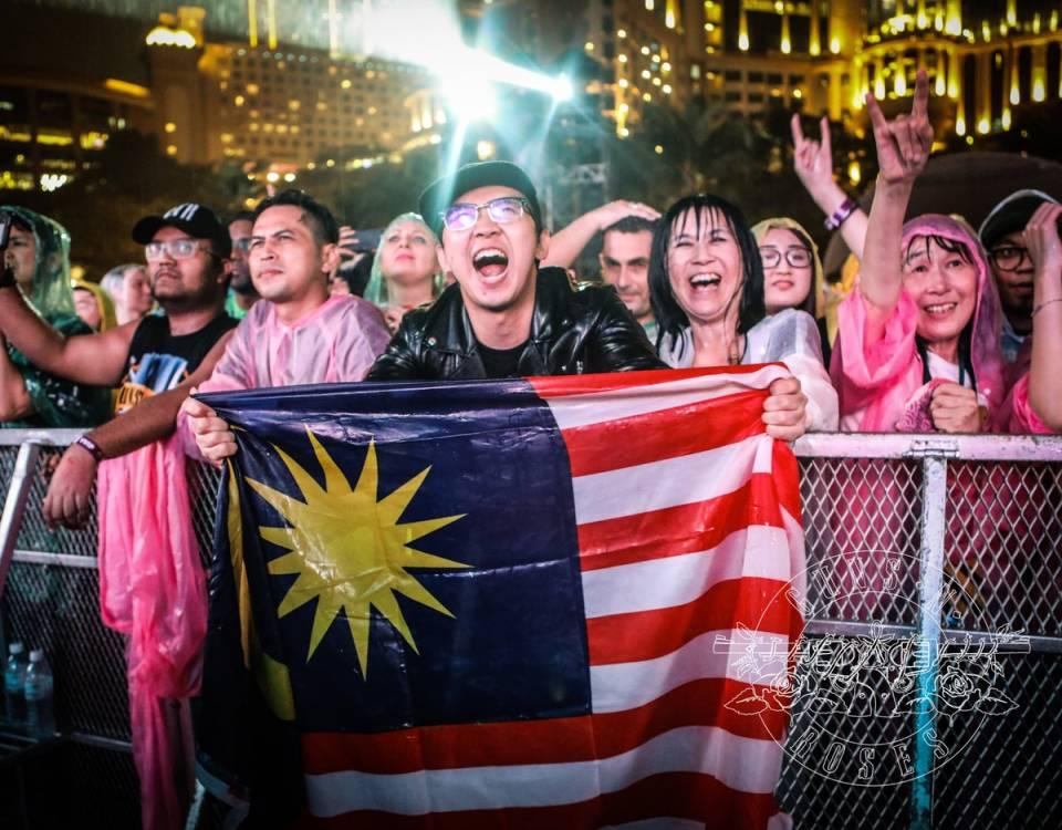 热情的马来西亚歌迷(来自GNR instagram)