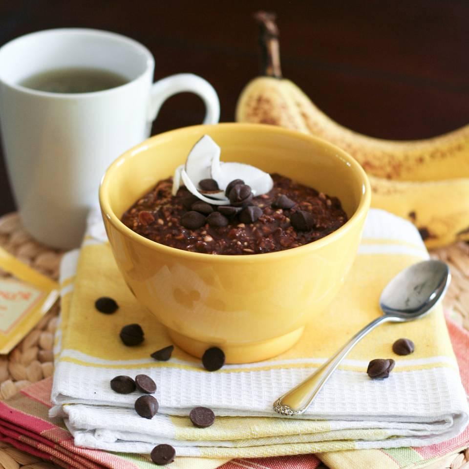 4.Choco-Banana Overnight Oats(巧克力香蕉燕麥粥)