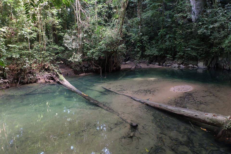 清水洞外头有个非常适合游泳的小河
