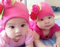 靓妈咪的异卵双胞胎女儿