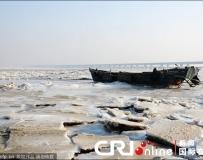 山東青島膠州灣冰情加重 冰封達1海裏以上。。。