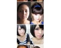 10位美女化妝前後對比~差太多~