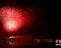 除夕夜蘇州金雞湖綻放璀璨煙花。。。
