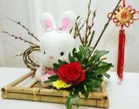 兔年情人節花藝。。。