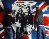 英國街頭藝術家創作壁畫迎威廉王子婚禮。。。