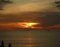 浮羅交怡海邊的晚霞