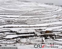貴陽遭持續冰凍雨雪襲擊 農田覆雪倣似北國。。。