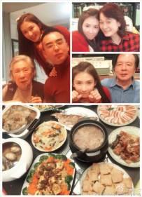林志玲与家人相聚晒合影 卖萌似少女