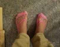 朋友問我為什麼不脫鞋?