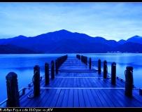 台湾日月潭夜景