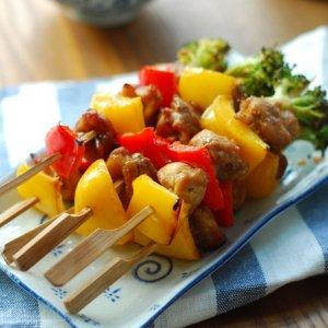 【时蔬鸡肉烤串】