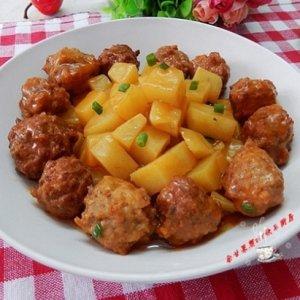 茄汁土豆烧肉圆