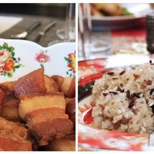【阖家团圆】家传焦糖红烧肉+猪肉珍珠丸子