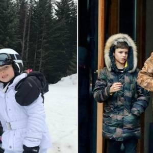 贝克汉全家出动滑雪 儿子出意外断骨!