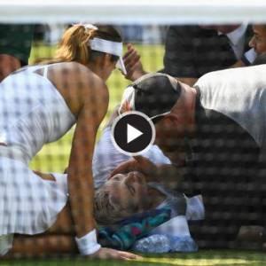【慎入】网球女将膝盖脱臼 惨叫声响彻球场