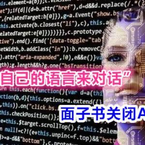 """""""创作出自己的语言来对话""""  面子书关闭AI项目"""