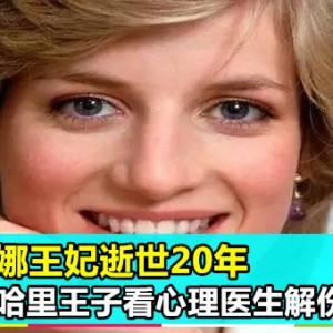 戴安娜王妃逝世20年 哈里王子看心理医生解伤痛!
