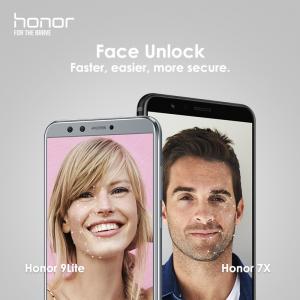来了!Honor 7X 和 9 lite也有脸部解锁咯!