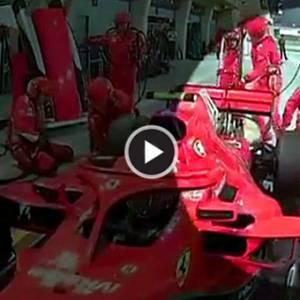 【F1巴林站】慎入!法拉利车手撞断机械师左脚