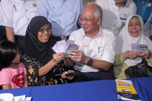 BN buy voters to vote BN but the free rice is from