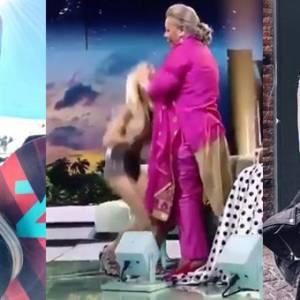女星直播节目真空上阵! 被嘉宾突扯上衣走光!