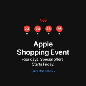 """先抢先赢!Apple预告推出长达4天""""黑五""""优惠!"""